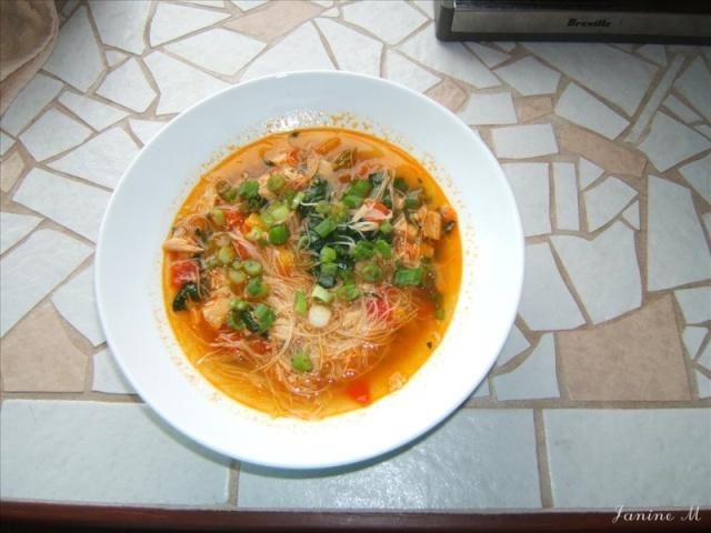 Soupe à la dinde et aux vermicelles de riz Dscf0019