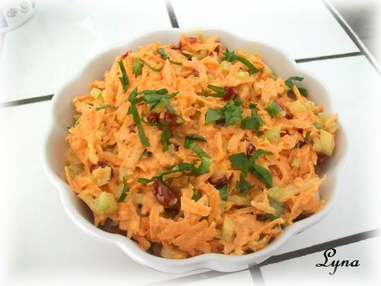 Salade de carottes et canneberges Salade11