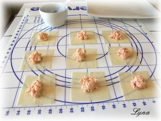 Wontons frits aux crevettes étape par étape en photos Wonton14