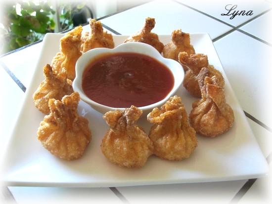 Wontons frits aux crevettes étape par étape en photos Wonton16