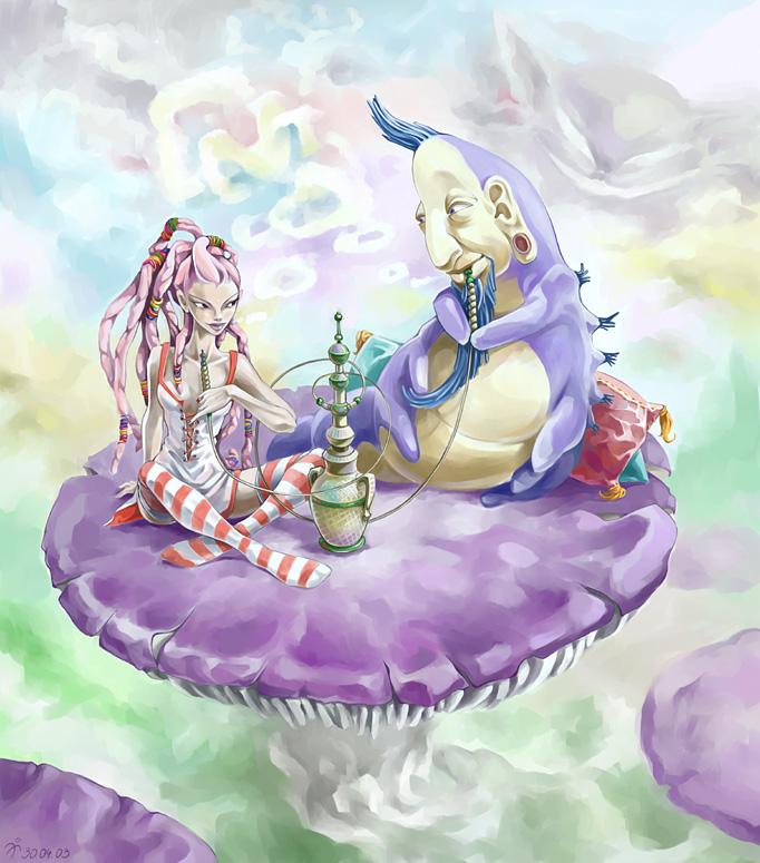 Alice nel Paese delle Meraviglie Caterp10