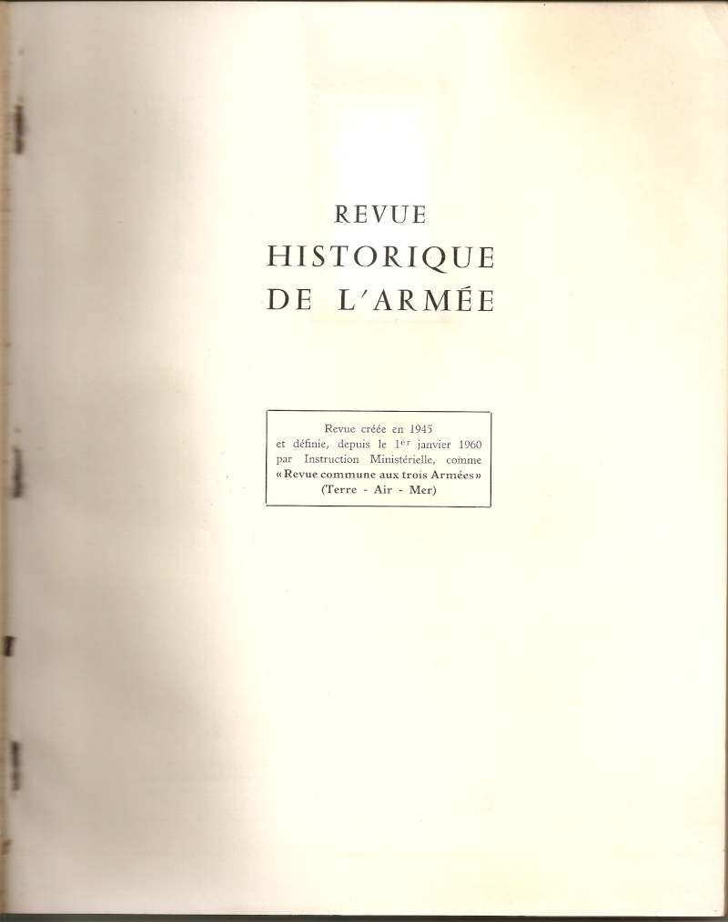 n°2 en 1966 de la Revue Historique des Armées Numari10