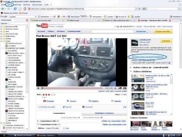 Postez vos vidéos YouTube dans vos messages Image810