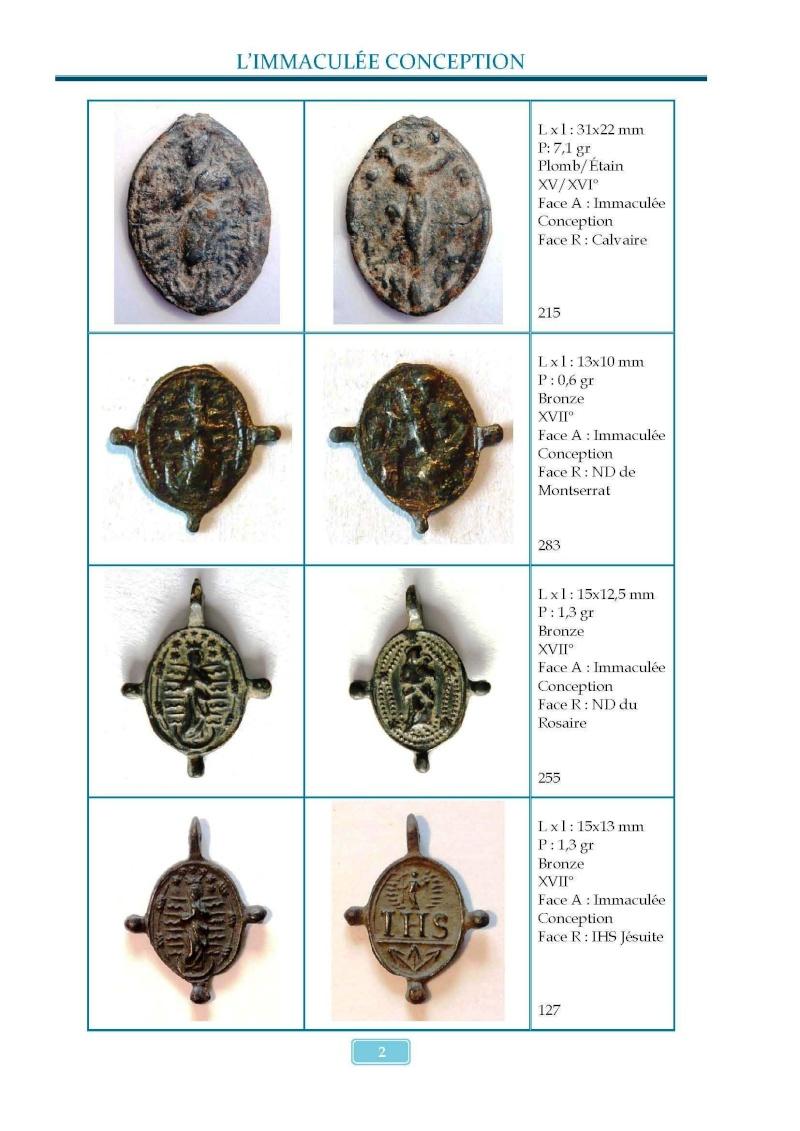 Monotemático medallas Inmaculada Concepción 8 de diciembre Madail11