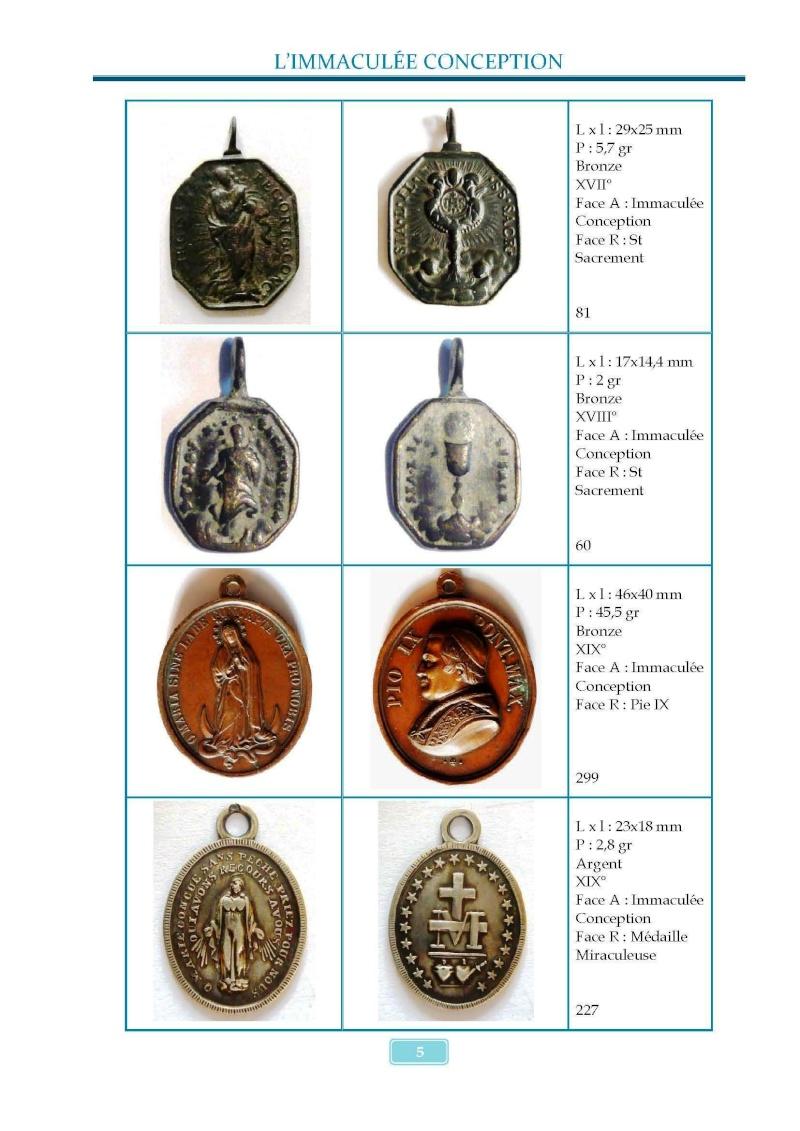 Monotemático medallas Inmaculada Concepción 8 de diciembre Madail14