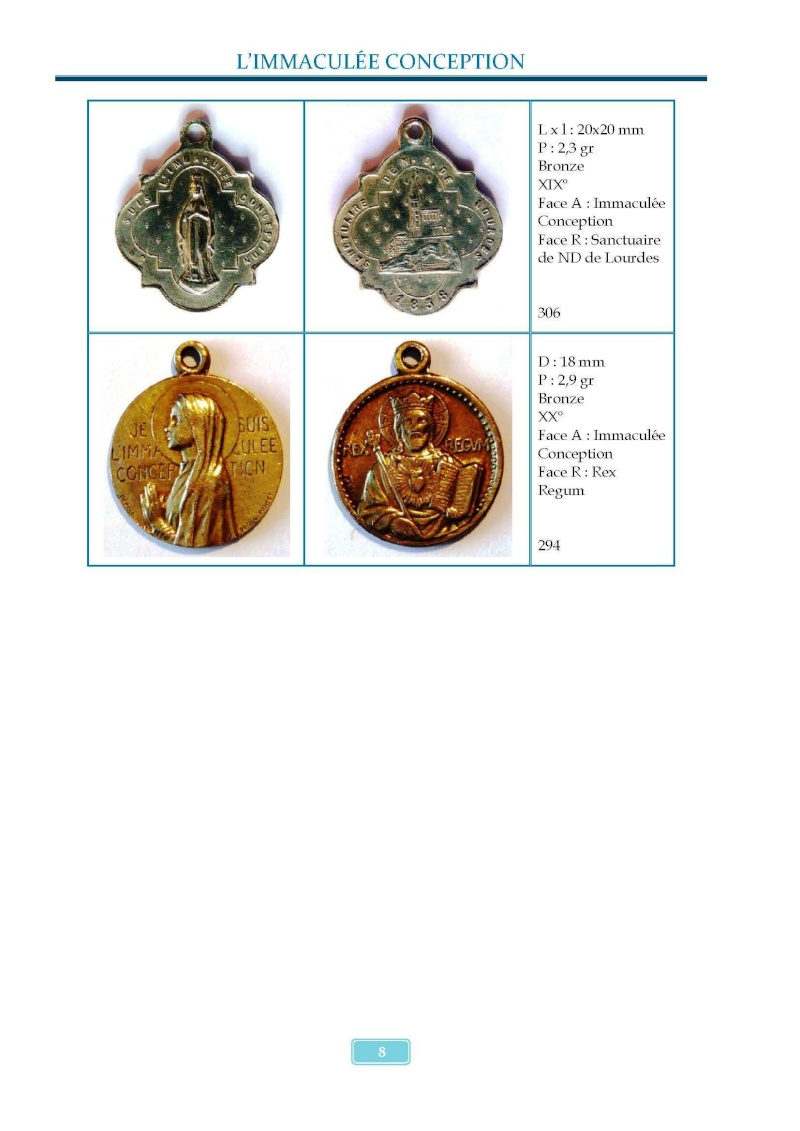 Monotemático medallas Inmaculada Concepción 8 de diciembre Madail17
