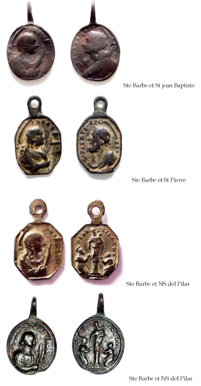 barbara - Medalla Santa Bárbara / Virgen del Pilar (R.M. SXVIII-P53)  (MAM) Ste_ba10