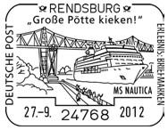 Brücken auf Briefmarken Rendsb10