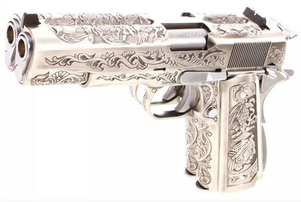 Achat plaisir vraiment satisfaisant. Cybergun Colt 1911 rail gun stainless 1911do10
