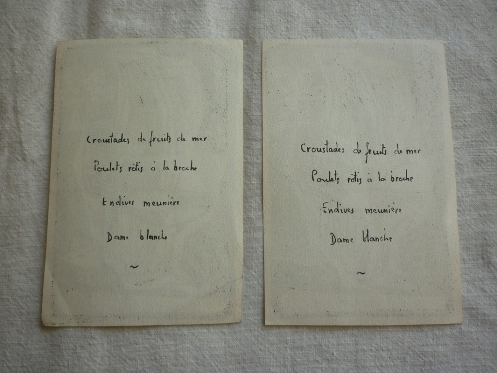 menus 1955 dessin moderniste signé P2220610