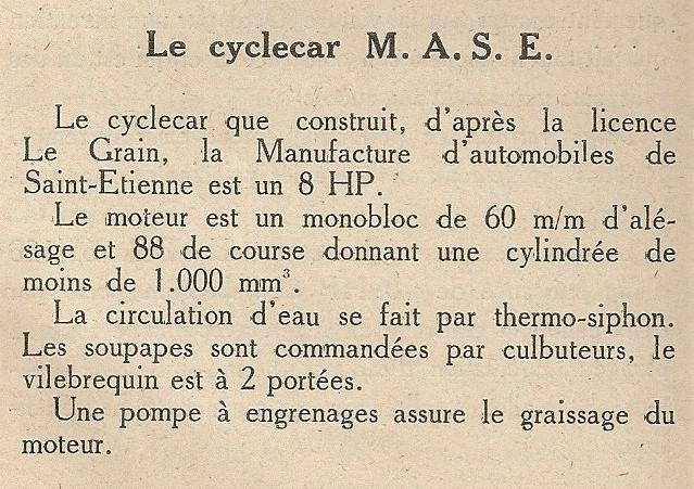 M.A.S.E. / MASE cyclecar et voiturettes - Page 2 Mase_c10