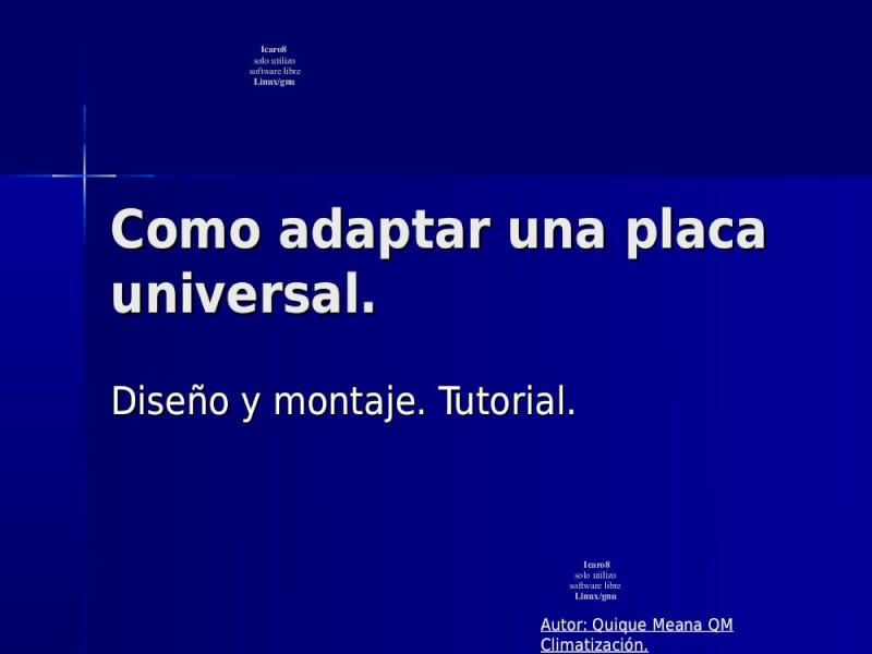 Placa universal AIRE ACONDICIONADO SPLIT (adaptacion ) Pag_128