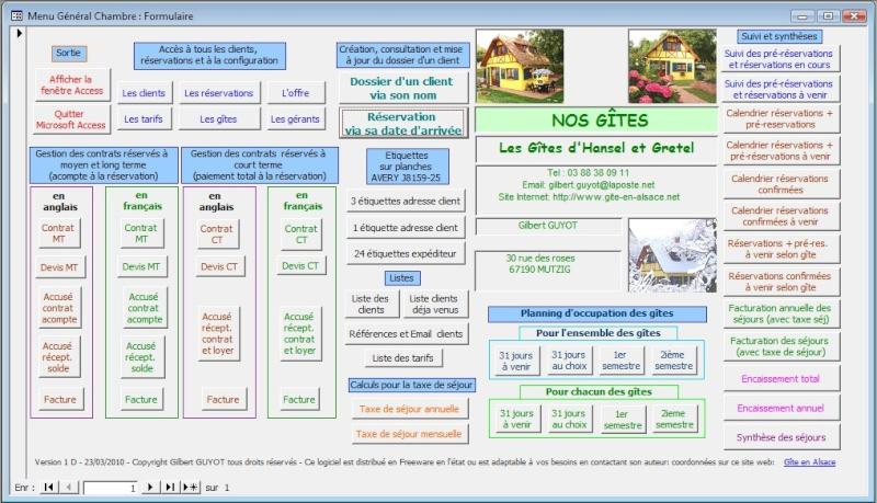 Outil gratuit de gestion de 1 à 5 Gîtes Menu_p10