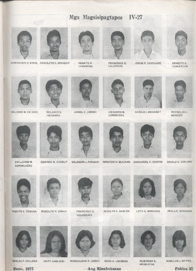 """ANG KINABUKASAN"" – ARAULLO HIGH SCHOOL BATCH 1977 YEARBOOK Ang_ki13"