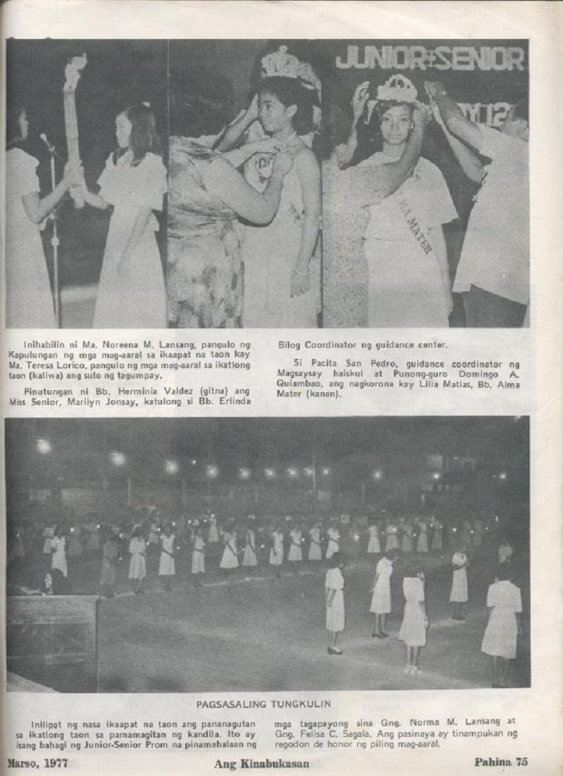 """ANG KINABUKASAN"" – ARAULLO HIGH SCHOOL BATCH 1977 YEARBOOK Ang_ki33"