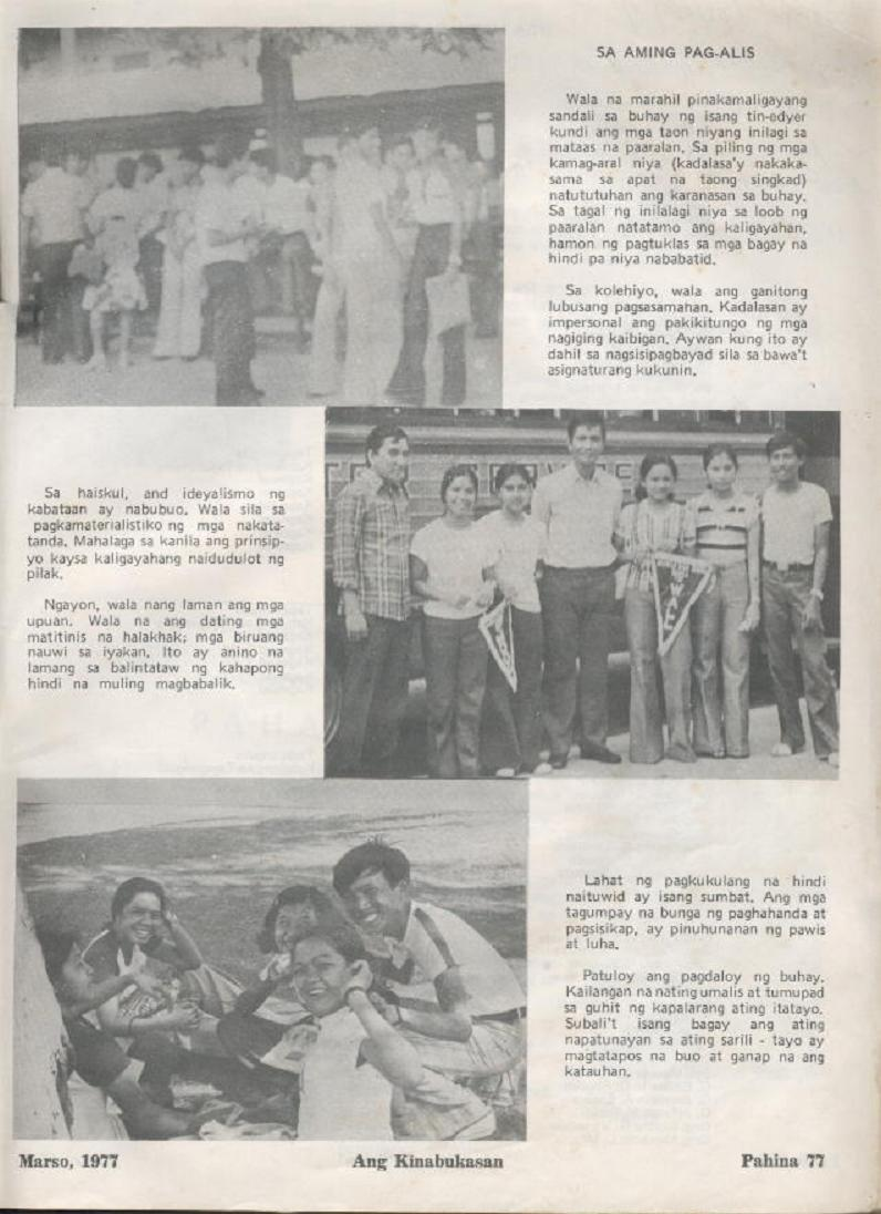 """ANG KINABUKASAN"" – ARAULLO HIGH SCHOOL BATCH 1977 YEARBOOK Ang_ki35"