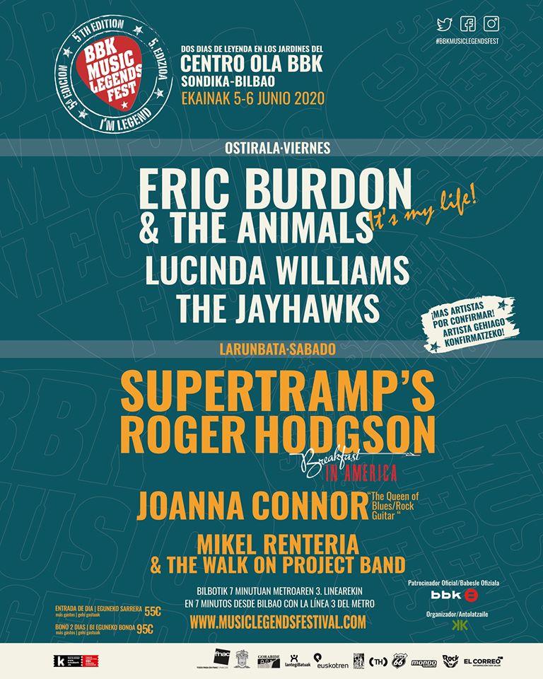 BBK Music Legends Festival 2020: ¡Eric Burdon & The Animals, Lucinda Williams y Mikel Renteria se unen al cartel!  82728910
