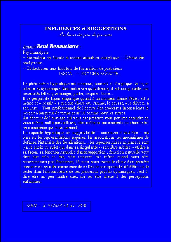 Démarche Analytique- René Bommelaere- présentation du livre Quat_i10
