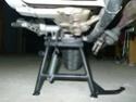 Montage Béquille centrale SW Motech pour Scarver P1020521