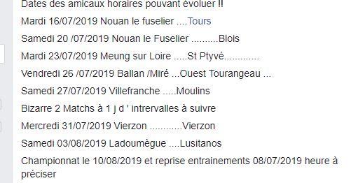 Matches Amicaux Amicau10