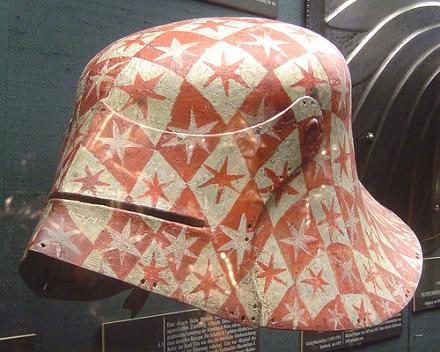 les casques peints XVe 1490mu10