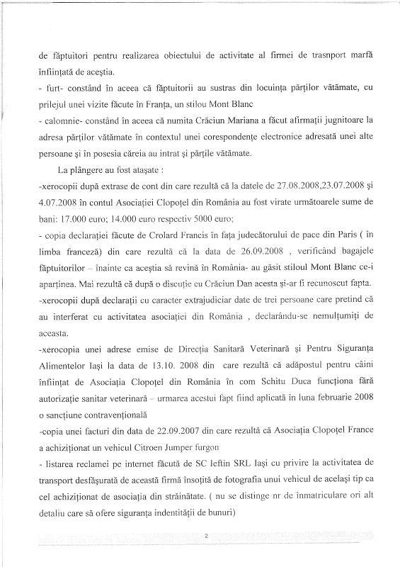 Décision du Parquet de Iasi suite à notre plainte contre Craciun Rezolu11