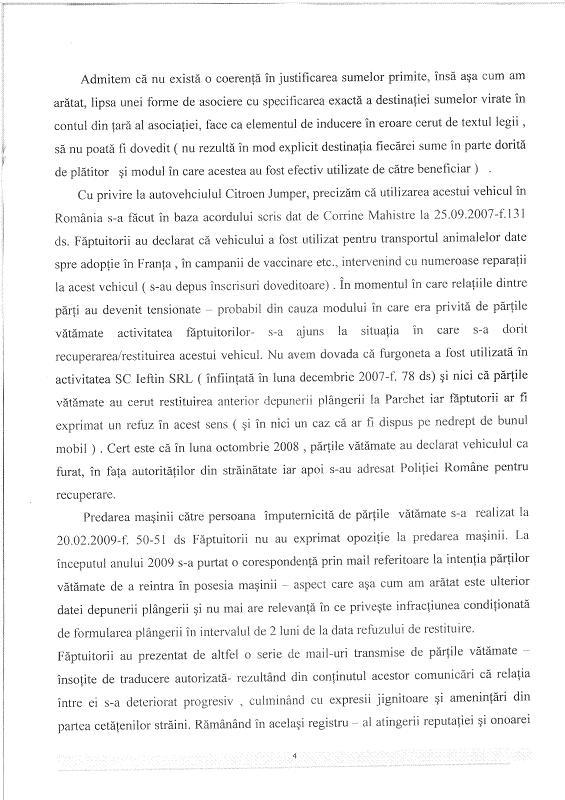Décision du Parquet de Iasi suite à notre plainte contre Craciun Rezolu13