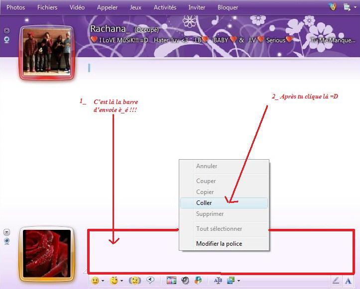 Comment envoyé un screen sur MSN Lalala10