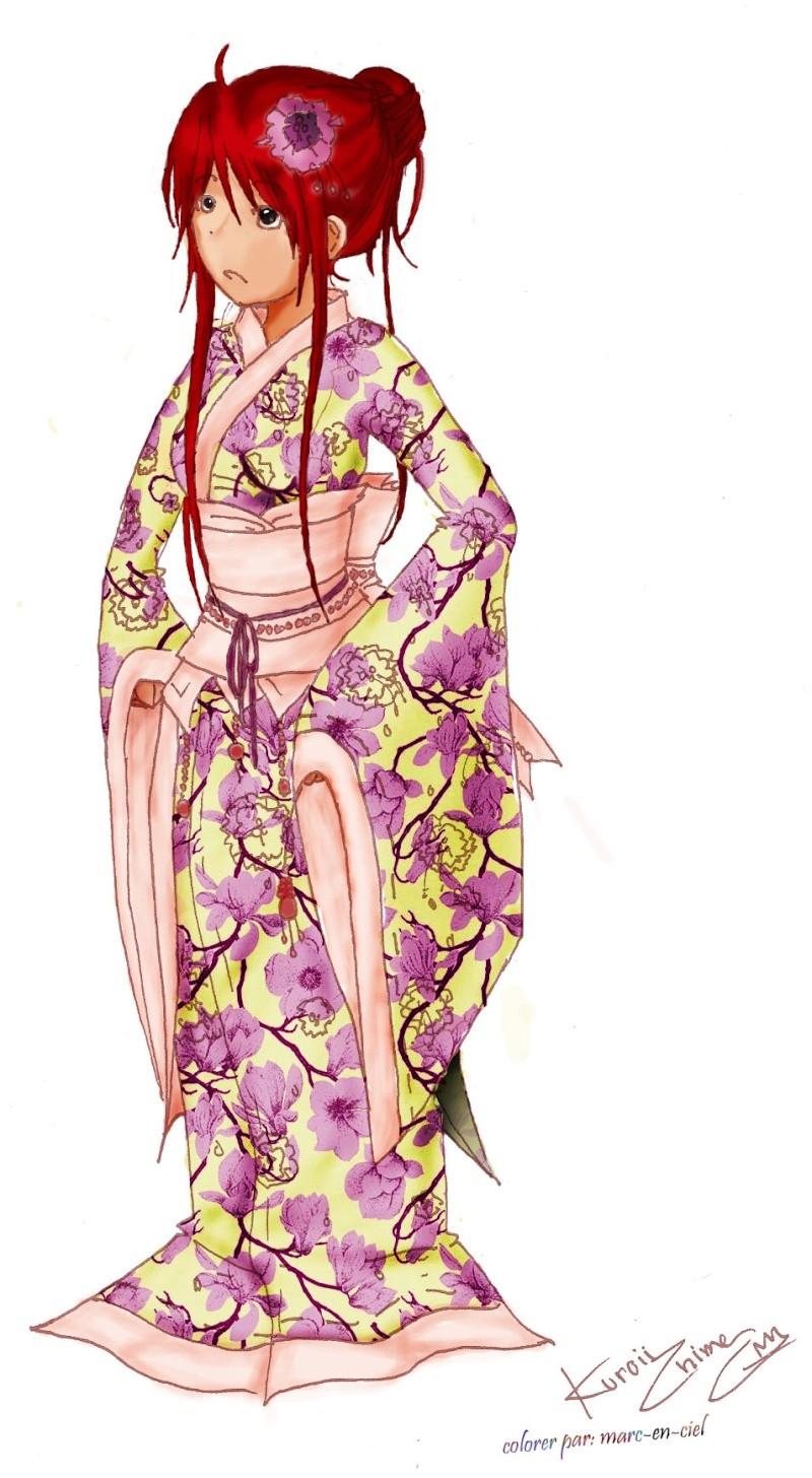 dessin par Amandine  ! p.9, j'ai abandonné le style manga ! - Page 3 Kimono10