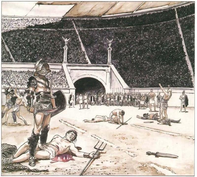 """Les gladiateurs dans """"Rome""""... la série. - Page 3 111"""