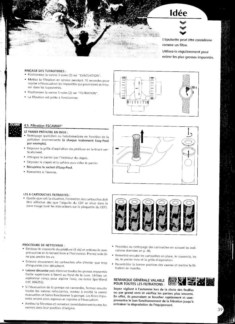 Problème de filtration cartouche Escawa10