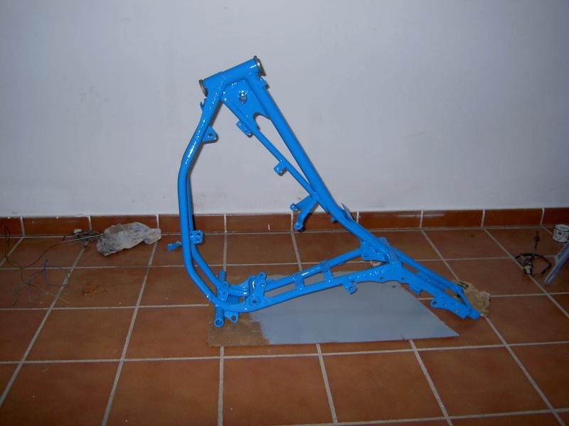 Puch Condor III - Blanca/Azul Chasis10
