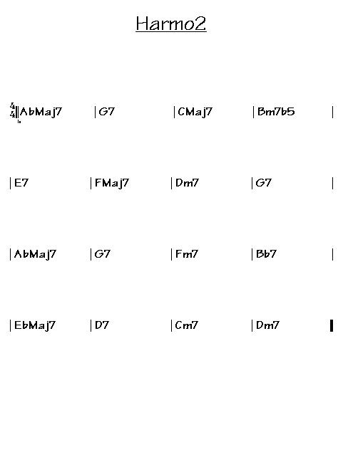 Analyse harmonique:gammes mineures harmoniques Harmo210