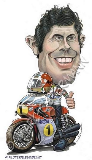 Caricature de pilote. Photos de sport auto. Agosti10