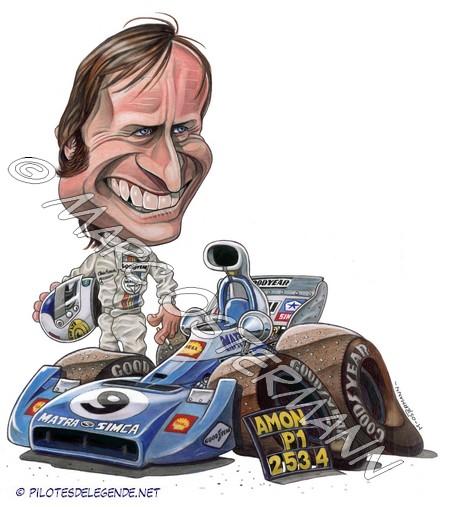 Caricature de pilote. Photos de sport auto. Amon210