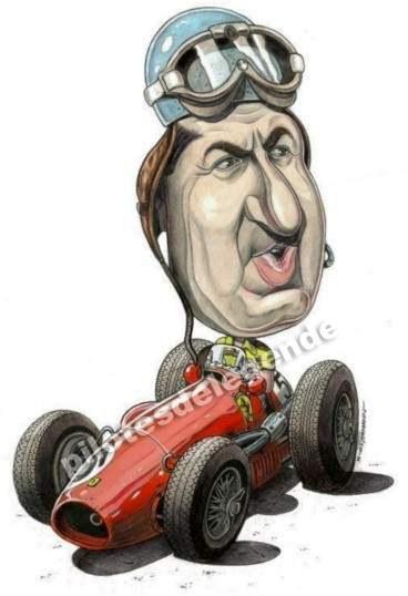 Caricature de pilote. Photos de sport auto. Ascari10