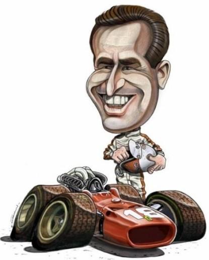 Caricature de pilote. Photos de sport auto. Bandin10