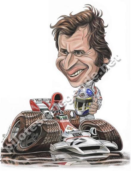 Caricature de pilote. Photos de sport auto. Beltoi10