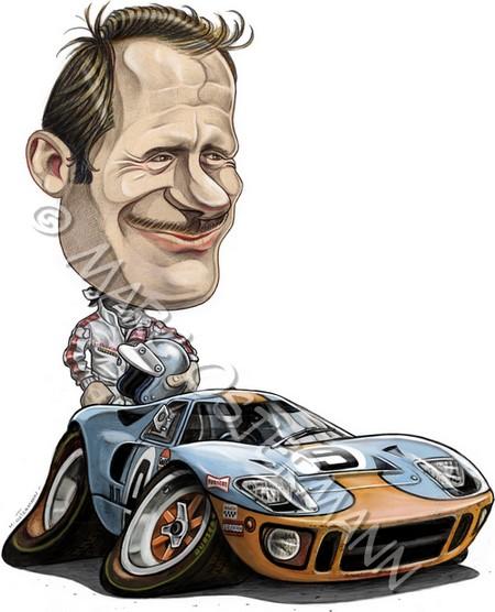 Caricature de pilote. Photos de sport auto. Bianch10