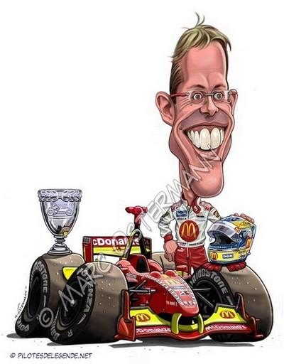 Caricature de pilote. Photos de sport auto. Bourda10