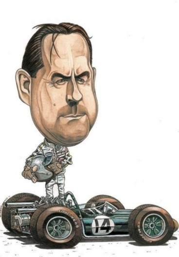 Caricature de pilote. Photos de sport auto. Brabha14