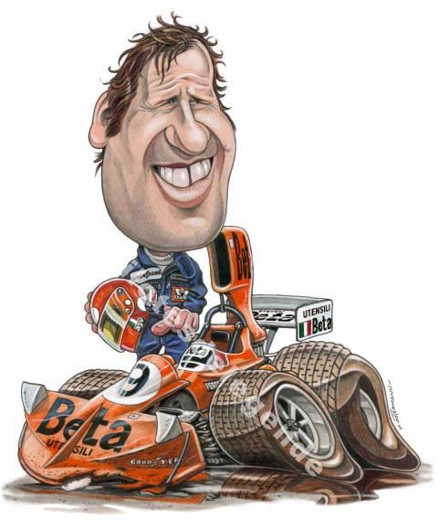 Caricature de pilote. Photos de sport auto. Brambi11