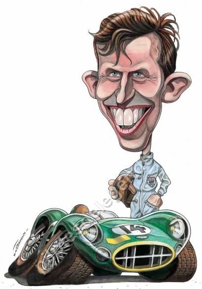 Caricature de pilote. Photos de sport auto. Brooks10