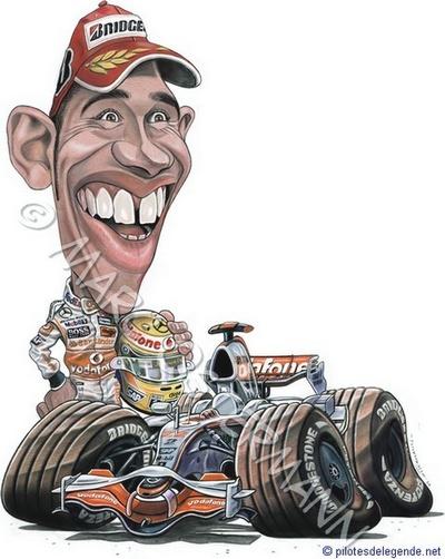 Caricature de pilote. Photos de sport auto. - Page 2 Hamilt14