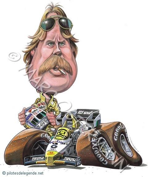 Caricature de pilote. Photos de sport auto. Rosber12