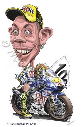 Caricature de pilote. Photos de sport auto. - Page 4 Rossi210