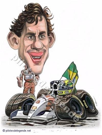 Caricature de pilote. Photos de sport auto. - Page 4 Senna210
