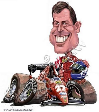 Caricature de pilote. Photos de sport auto. - Page 4 Tambay10