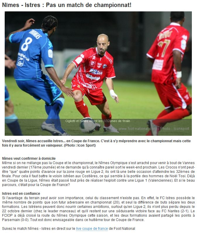 Coupe de France 2010/11 (football) No-ist10