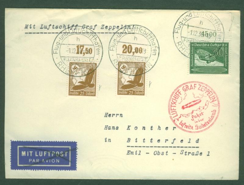 Zeppelinpost des LZ 130 Zeppel15